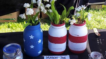 American Flag Mason Jar Vases or Candle Holders